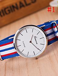 baratos -Homens Relógio de Pulso Venda imperdível Tecido Banda Amuleto Cores Múltiplas / SODA AG4