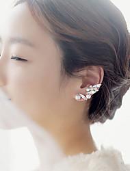 abordables -Mujer Perla Puños del oído - Perla, Zirconia Cúbica Forma de Hoja Pantalla de color Para