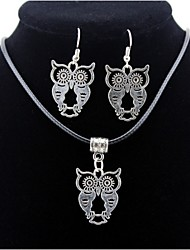 cheap -Men's / Women's Jewelry Set - Owl Include Silver For Daily / Casual / Earrings / Necklace