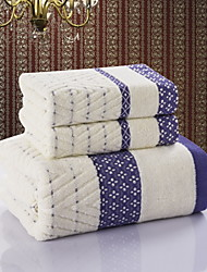 Yuxin®Quilted Cotton Towels Cotton Towel Sets Combination    3Pcs/Set