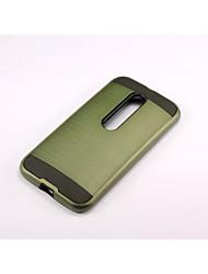 preiswerte -Für Motorola Hülle Stoßresistent Hülle Rückseitenabdeckung Hülle Panzer Hart PC für Motorola MOTO G4 / Moto G4 plus