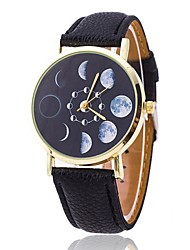 cheap -Moon Phases Watch Fashion Unisex Watch Women's Watch Analog Gift Idea Astronomy Space Gift for Men Cool Watches Unique Watches Strap Watch