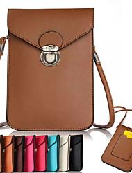 tafetá beliche sacos de telefone pu para o iPhone 6 / 6s