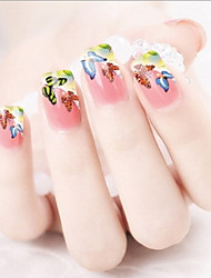 Water Transfer Printing Color Butterfly Nail Stickers