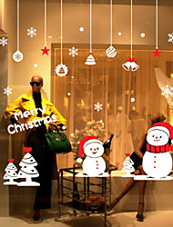 cheap -Landscape Still Life Fashion History Shapes Christmas Decorations Holiday Wall Stickers Plane Wall Stickers Decorative Wall Stickers, PVC
