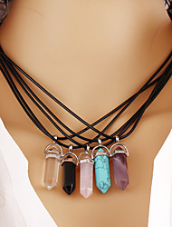 Women's Pendant Necklaces Turquoise Crystal Geometric Synthetic Gemstones Crystal Turquoise Alloy Geometric Fashion Personalized Vintage