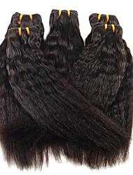 abordables -3 paquetes Cabello Brasileño Liso Planchado Cabello Virgen Tejidos Humanos Cabello 8-28 pulgada Cabello humano teje Extensiones de cabello humano / Corte Recto
