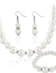 cheap -Women's Rhinestone Party Gift Imitation Pearl Earrings Necklaces