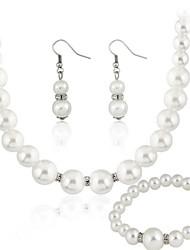 Gioielli Set Per donna Regalo / Festa Parure di gioielli Perle false Strass Collane / Orecchini Bianco