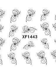 1 Neglekunst Klistermærke Vandoverførende decals Negle Smykker 3D Negle Stickere Punk Makeup Kosmetik Neglekunst Design