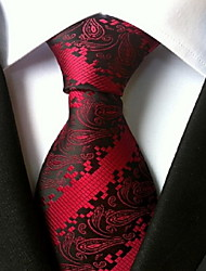 Men Wedding Cocktail Necktie At Work Red Muticolors Tie