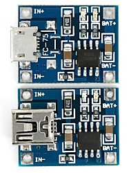cheap -TP4056 3.7V Lithium Battery Charging Board Micro USB Charger Module + Mini USB Charger Module