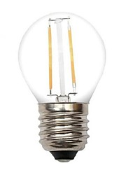 cheap -2W E26/E27 LED Filament Bulbs G45 2 leds COB Decorative Warm White 80-120lm 2800-3200K AC 220-240V