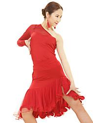 preiswerte -Latintanz / Samba-Kleider(Rot,Viskose / Elastan / Polyester,Latintanz / Samba) - fürDamen Kleid