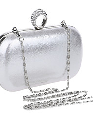 cheap -Women's Bags PU Evening Bag Rhinestone Black / Silver / Red / Wedding Bags