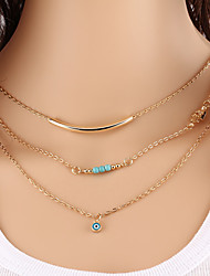 cheap -Women's Turquoise Chain Necklace Layered Necklace - Turquoise Unique Design Basic Fashion Jewelry Necklace For Party Congratulations