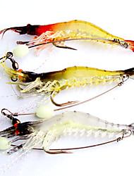 3 Stk. Blød Madding Blink Reje Blød Madding Blød Plastik Selvlysende Flue Fiskeri