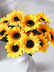 Seven Heads Sunflower Rural Style Living Room Decoration