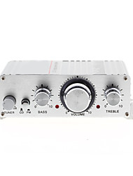 mini-amplificateur stéréo salut-fi pour iPod mp3 maison de voiture de moto DC 12V / 2a argent