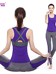 cheap -Women's Yoga Pants With Top - Purple, Red, Light Blue Sports Clothing Suit Running, Fitness, Gym Sleeveless Activewear Quick Dry, Breathable, Compression Stretchy