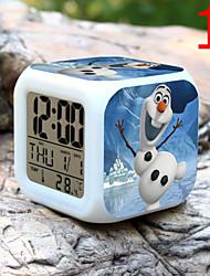 Недорогие -высокое качество творчески уникальный прекрасный красочный маленький будильник привело электронные подарки / мультфильм будильник