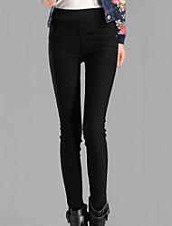 economico -Da donna A vita medio-alta Vintage Elasticizzato magro Jeans Pantaloni,Tinta unita Cotone Per tutte le stagioni