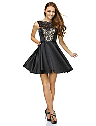 cheap -A-Line Strapless Short / Mini Lace Satin Cocktail Party Prom Company Party Dress with Lace by TS Couture®