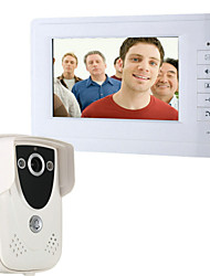 cheap -ENNIO 7 Inch Video Door Phone Doorbell Intercom Kit 1-camera 1-monitor Night Vision