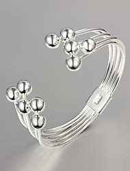 "cheap -Fashion Noble 925 Sterling Silver ""Grapes beads""Bangles Party Daily Bangles For Woman&Lady"