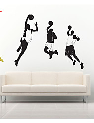 AWOO®  Three Men Play Basketball  Wall Stickers Home Decor  Vinyl Stickers For Kids Room Decoration
