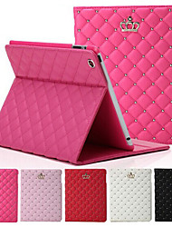 cheap -Original High Quality Crown Design Leather Flip Smart Case For Apple iPad 4/3/2 Cover Back Case Housing