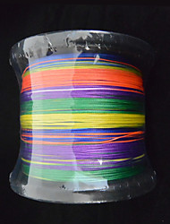 cheap -1000M Anmnka Colorful 8Stand Brand  Super Strong Japan Multifilament PE Braided Fishing Line 8 ~ 80LB