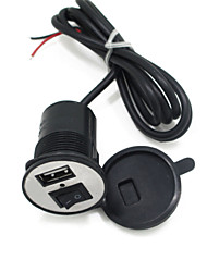 cheap -12V-24V Electric Motor car Phone Charger USB Car Charger With Switch 1.5A
