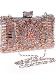 Damen Taschen Ganzjährig Poly Urethan Spezielle Werkstoff Abendtasche Perle Anhänger / Schmuck für Hochzeit Veranstaltung / Fest Silber