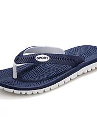 Herren Schuhe Kunststoff Frühling Sommer Herbst Winter Komfort Slippers & Flip-Flops Für Normal Kleid Schwarz Grau Blau