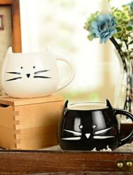 """Недорогие -300 мл черно-белая симпатичная чашка для животных для животных с креативной кружкой (5,1 """"x4,3"""" x3,7 """")"""