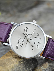 Women's New Fashion Personality  I'm Already Late Wrist Watch Cool Watches Unique Watches