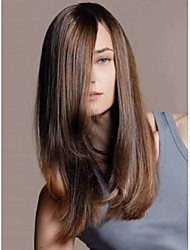 cheap -fashion lady long brown color straight beautiful wigs