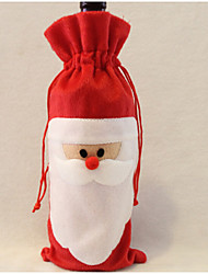 cheap -Santa Claus Wine Bag Father Christmas Gift bag Christmas decorations 1PCS