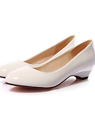 cheap -Women's / Girls' Shoes Leatherette Spring / Summer / Fall Heels Low Heel Almond / Black / White / Party & Evening