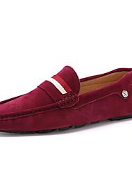 Недорогие -Муж. Комфортная обувь Замша Весна / Осень Английский Мокасины и Свитер Коричневый / Красный / Синий