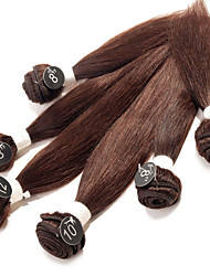 ANNA Brazilian Silky Straight Hair Weaves 6Pcs #2 Dark Brown Virgin Silky Straight Human Hair Weave 200g/pack