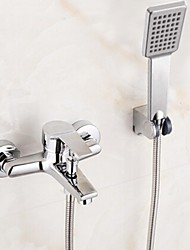 cheap -Shower Faucet Bathtub Faucet - Contemporary Chrome Tub And Shower Ceramic Valve