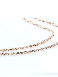 cheap -Women's Chain Necklace - Gold Plated Golden Necklace For Wedding, Party, Daily