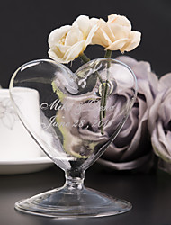 Personalized  Heart-shaped Vase Wedding Table Centerpieces Wedding Reception