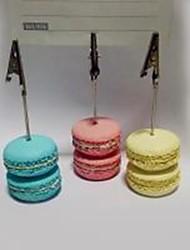 Недорогие -место карты и держатели моделирования Macarons держатель смола визитная карточка
