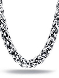 cheap -Men's Chain Necklace / Chains / Necklace - Stainless Steel Unique Design, Party, Work Silver, 5# Necklace For Christmas Gifts, Gift