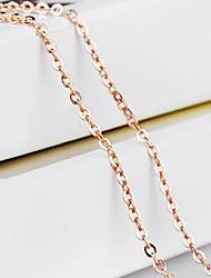 Feminino Colares em Corrente Formato de Cruz Ouro bijuterias Jóias Para Casamento Festa Diário Casual