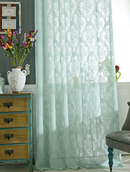 cheap -Sheer Curtains Shades Bedroom Polyester Hollow Out
