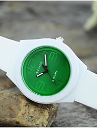 cheap -Women's Quartz Wrist Watch Hot Sale Silicone Band Charm Casual Fashion White